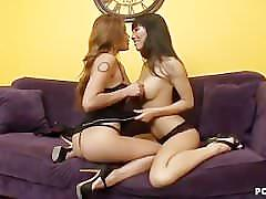 Charmane star and asa pleasing each other