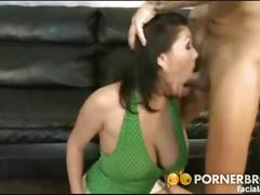 Busty brunette milf claire dames sucks anf fucks.