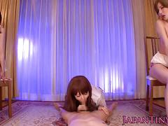 Yuria satomi and friends take turns fucking