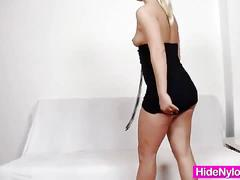 Czech blonde lilith lee masturbates and poses