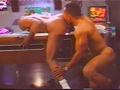 Interracial vintage style fucking with some hot muscled hunks