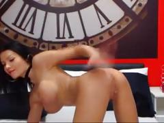 Hot milf in boots toys ass