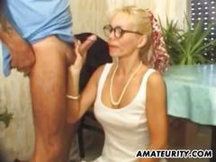 anal, cumshot, hardcore, ass, milf, blowjob, shaved, mature, glasses, cuminmouth