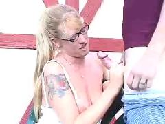 Another cum on glasses wank