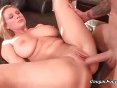 Busty blonde milf gets pounded deep and hard