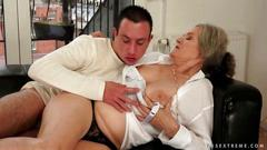 Boy loves busty granny