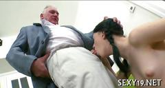 Delightful anal sex with a very old and kinky teacher