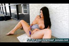 Romi beautiful teen gorgeous pushing her whole hand...