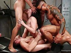 bdsm, black, babe, orgy, interracial, big cock, deepthroat, gangbang, double penetration, tattooed, bound gang bangs, kink, ray black, mandy muse, codey steele, cyrus king, jay savage, eddie jaye