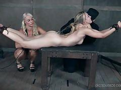 milf, blonde, bondage, bdsm, torture, dominatrix, breath play, ponytail, ass hook, suspension, real time bondage, riley reyes
