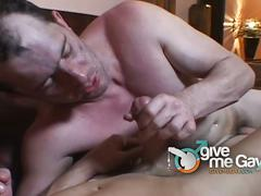 Ultimate gay anal whacking on the couch