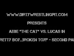 """Abbie cat in """"pretty boy broken toy!"""""""