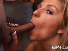 Naughty girl gives a hot blowjob