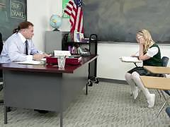 Detention dicking for blonde schoolgirl dakota james