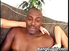 Hard interracial threesome