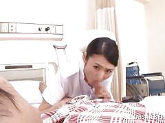 Good nurse sucks her needy patient