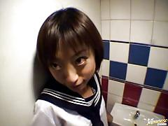 asian, public, toilet, blowjob, brunette, walking, school girl, school uniform, flasher, rina x, japanese flashers, idol bucks