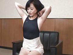 mature, asian, slim, scared, undressing, black hair, on bed, japanese matures, idol bucks