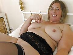 Blonde bbw with panty fetish rubs herself for you