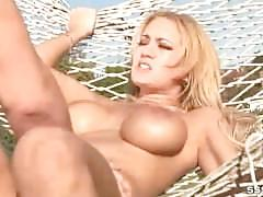 Hammock sex video with blonde with big tits