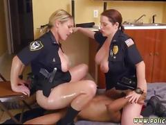 blowjob, uniforms, milf, uniform, three some, doggystyle, cop, cumshot, white, interracial, 3 some, police