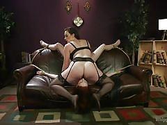 milf, facesitting, bdsm, lesbians, babe, redhead, whipping, busty, lezdom, pussy eating, rope bondage, whipped ass, kink, chanel preston, alex harper