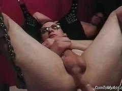 Arousing extreme sling gay anal fuck