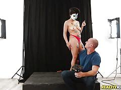 Goth latina blows a big one