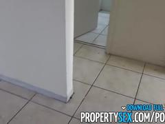 Propertysex - hot chick busted squatting empty apartment fucks landlord