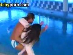 Girl wants to play with swimming teacher