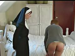 Schoolgirls punished by nun