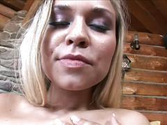 Big tit blonde double fucked