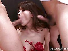 babe, japanese, brunette, censored, double blowjob, wax, rope bondage, wierd japan, all japanese pass, nao katoh