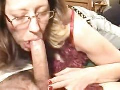 Milf wife deepthroat and cum shot