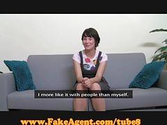 Fakeagent 18 yo first time facial