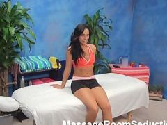 Dirty whore seduced by massage therapist