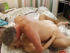 Russian woman cum on empties