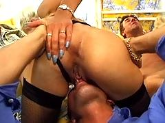 Alexandra ross  mom and daughter gangbanged by four guys