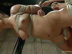 Dani is hung with rope so she can be fucked easily