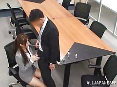 babe, japanese, blowjob, cutie, brunette, office sex, censored, at work, office sex jp, all japanese pass