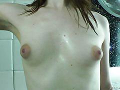 Sweet & slim brunette tranny