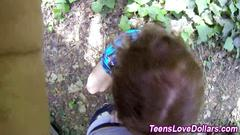 Pov teen public blowjob that seems to be too sloppy