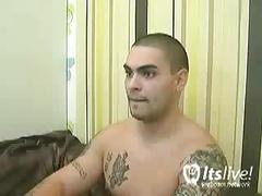 Sexy tatted hunk tyler hart's webcam show