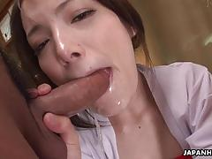 Sexy asian her squirting cunt drilled in a threesome