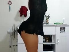 amateur, brunette, latina, small tits, webcam, brazilian, bailando, dance, brasilea