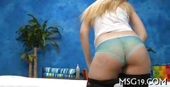 Gorgeous blonde nerd girl strips to mastubate
