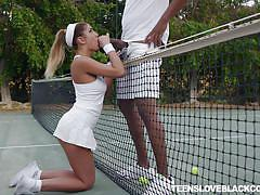 Tennis training session turns into raunchy encounter