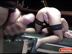 orgasm, blonde, bondage, bdsm, facial, swallow, big cock, cumshot, masturbation, blowjob, fetish, big dick, magma film, vinna reed