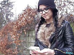 teens, outdoor, glasses, pov blowjob, from behind, public pickup, sex for money, fake agent, cheating boyfriend, public agent, fake hub