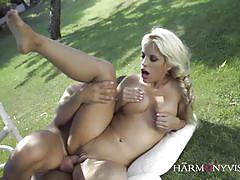 Latina blondie banged in the garden of eden